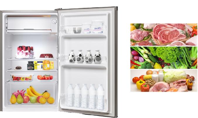 Tủ lạnh Electrolux 92 lít EUM0900SA - Làm lạnh trực tiếp giữ thực phẩm luôn tươi ngon
