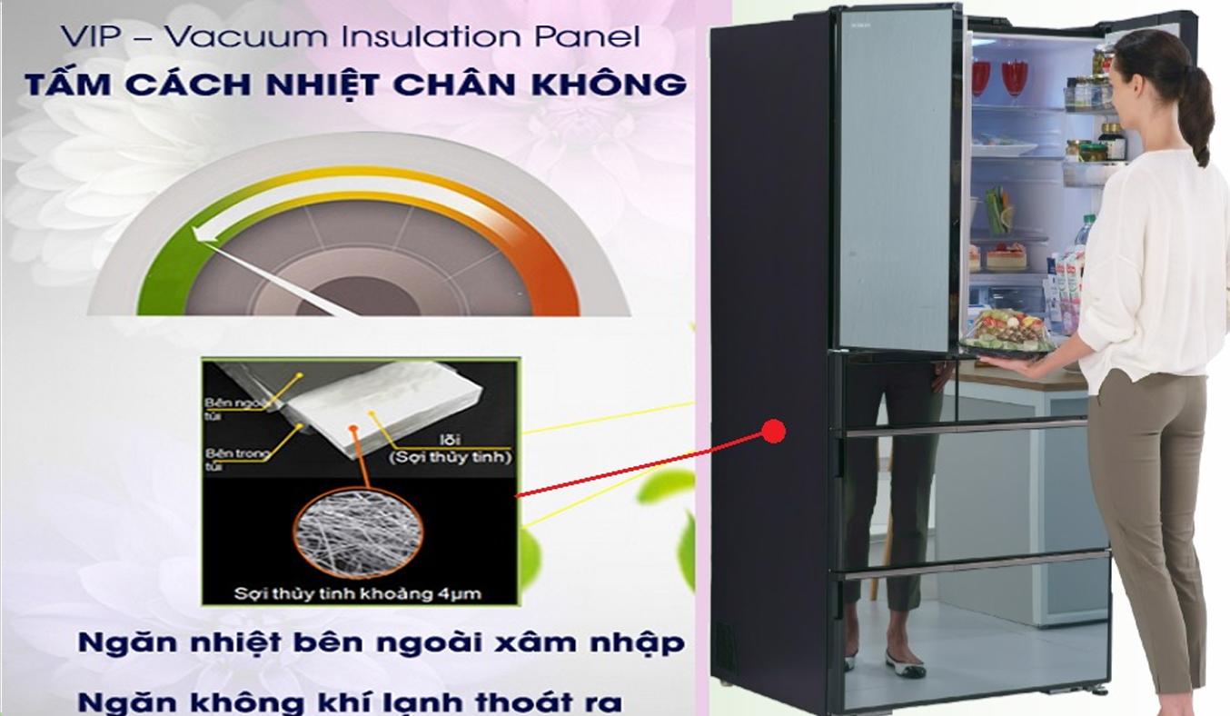 Tủ lạnh Hitachi Inverter 722 lít R-X670GV cách nhiệt