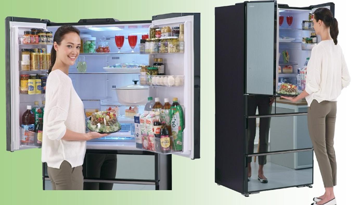 Tủ lạnh Hitachi Inverter 722 lít R-X670GV sang trọng