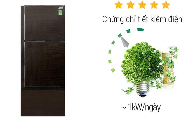 Tủ lạnh Mitsubishi Electric MR-V50EH 414 lít tiết kiệm điện năng