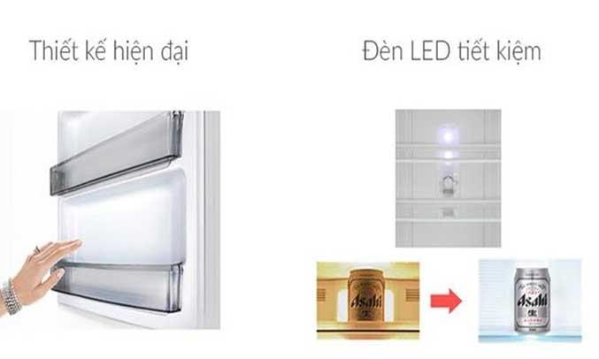 Tủ lạnh Panasonic 271 lít NR-BL308PSVN sử dụng đèn LED tốt tiết kiệm điện