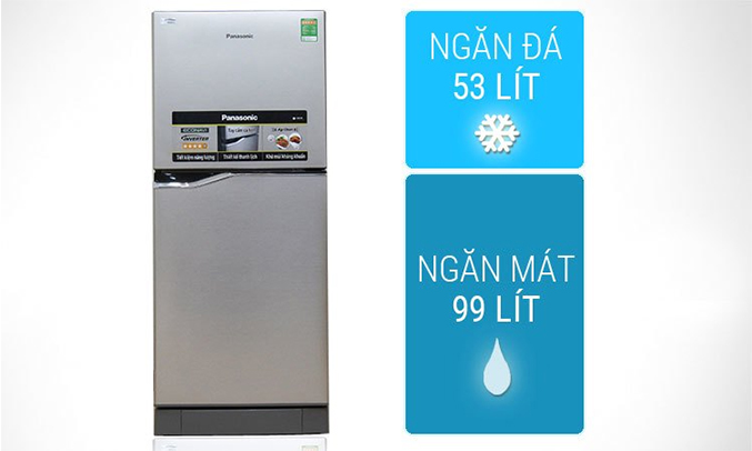 Ngăn rau quả trên tủ lạnh Panasonic NR-BA178VSVN 152 lít sang trọng