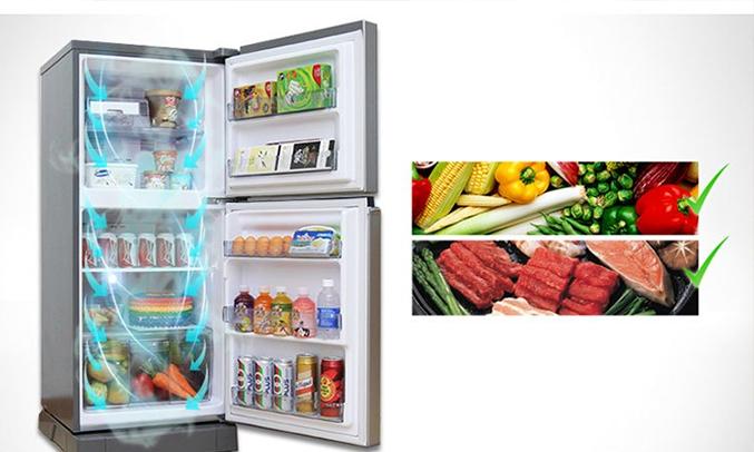 Ngăn rau quả trên tủ lạnh Panasonic NR-BA178VSVN 152 lít làm lạnh đồng đều