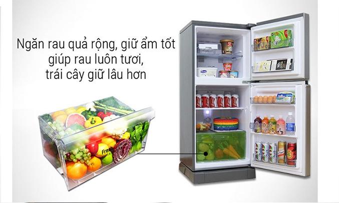 Ngăn rau quả trên tủ lạnh Panasonic NR-BA178VSVN 152 lít làm lạnh nhanh