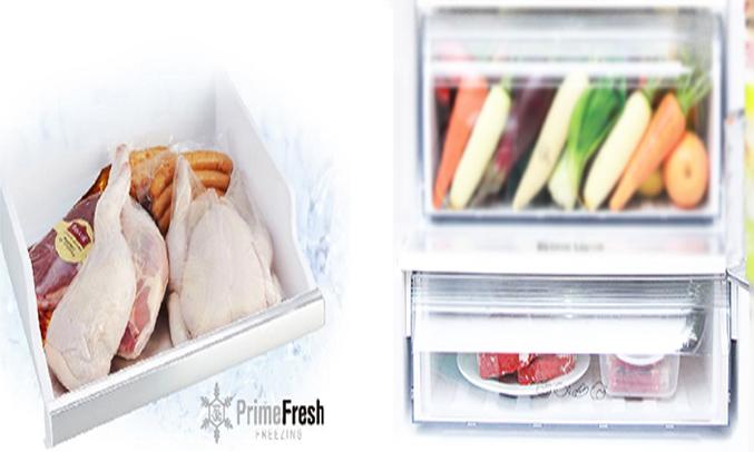 Công nghệ cấp đông mềm trên dòng tủ lạnh Panasonic NR-BV328GKVN với ngăn Prime Fresh