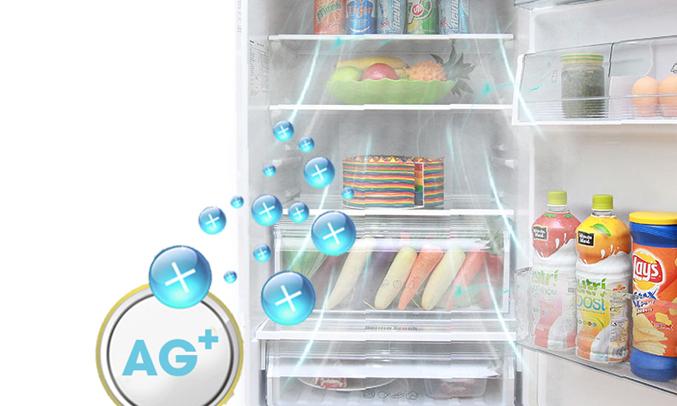 Tủ lạnh dùng công nghệ Ag Clean với các phân tử ion bạc