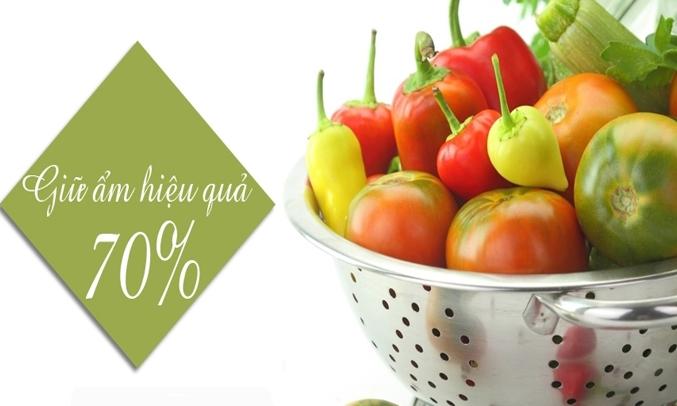Giữ ẩm hiệu quả đến 70% giúp thực phẩm luôn tươi mớ