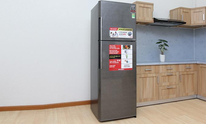 Tủ lạnh Sharp 342 lít SJ-X346E-SL có thiết kế hiện đại