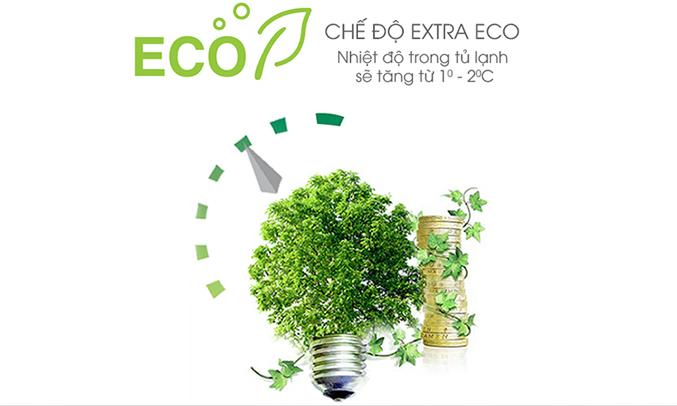Chế độ Extra Eco là chế độ giúp tủ lạnh tối ưu khả năng tiết kiệm điện