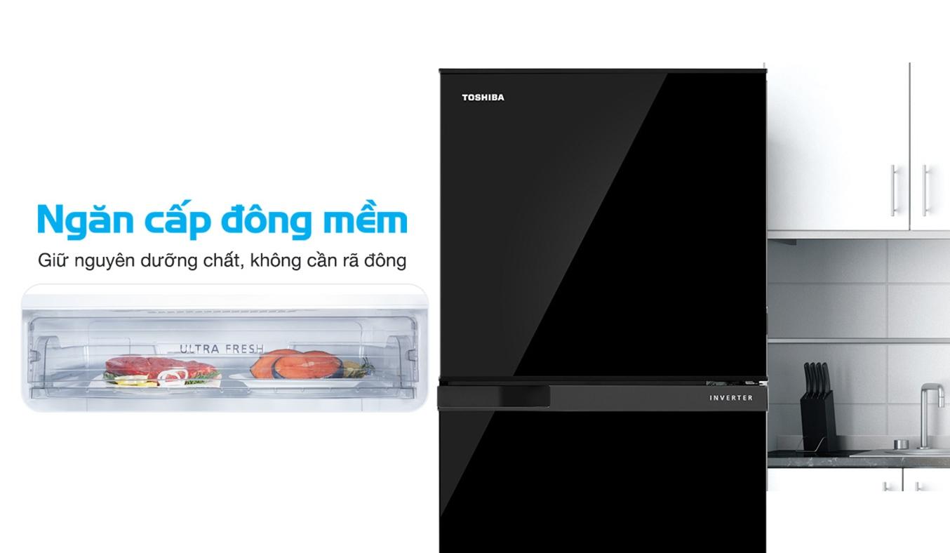 Tủ Lạnh Toshiba Inverter 194 lít GR-A25VM (UKG1) công nghệ Inverter