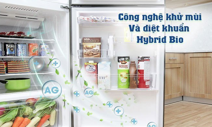 Tủ lạnh Toshiba GR-A28VU (UB) xanh đen khử mùi diệt khuẩn vượt trội