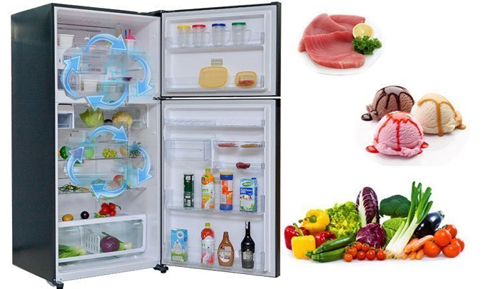 Tủ lạnh Toshiba GR-A28VU (UB) xanh đen bảo quản thực phẩm tươi ngon