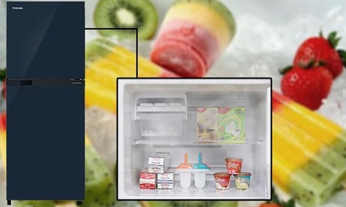 Tủ lạnh Toshiba GR-M28VUBZ(UB) 226 lít xanh đen công nghệ làm đá đông nhanh chóng