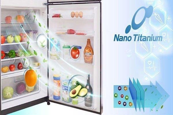 Công nghệ Nano Titanium trên tủ lạnh Hitachi giúp khử mùi hiệu quả
