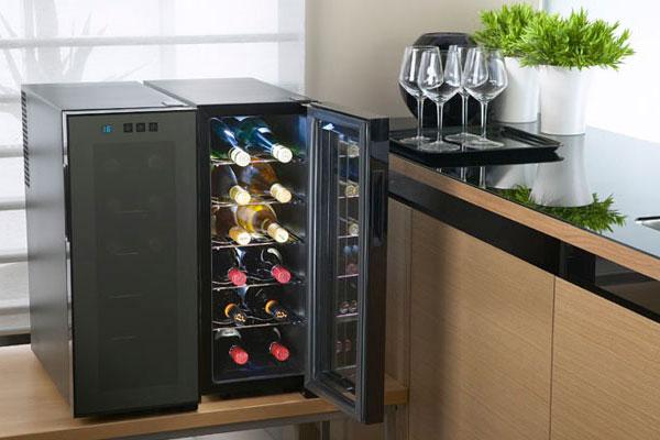 Dung dịch cồn như rượu không nên cho vào tủ lạnh, nếu nhà bạn có quá nhiều và cần nơi lưu trữ thì một chiếc tủ ướp rượu sẽ phù hợp hơn