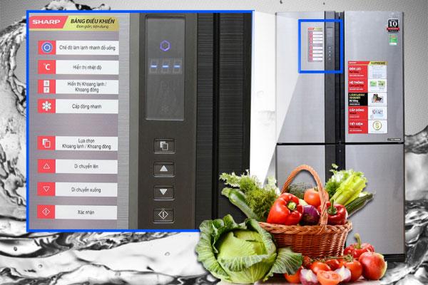 Thiết kế bảng điều khiển ở ngoài giúp người dùng dễ dàng điều chỉnh tủ lạnh theo ý muốn