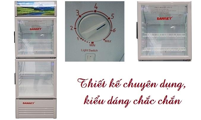 Tủ mát Sanaky VH-258K với thiết kế chuyên dụng