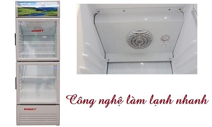 Tủ mát Sanaky VH-258K hoạt động với công suất cao