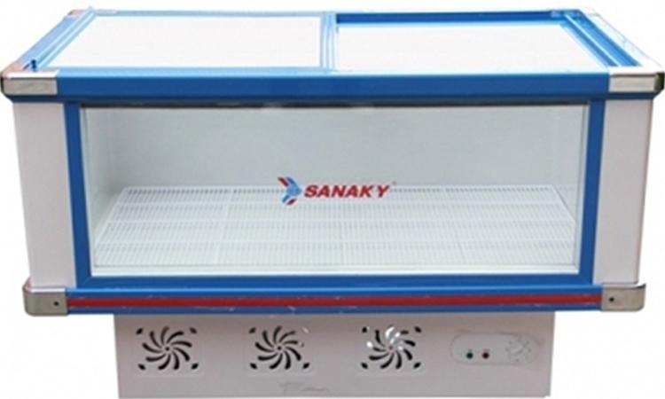 Tủ mát Sanaky 278 lít VH-288K 2 cánh kính lùa tiện lợi