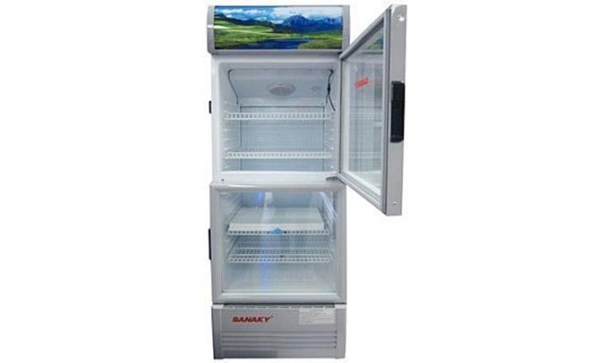 Tủ mát Sanaky VH-358W 290 lít có hệ thống sưởi kính