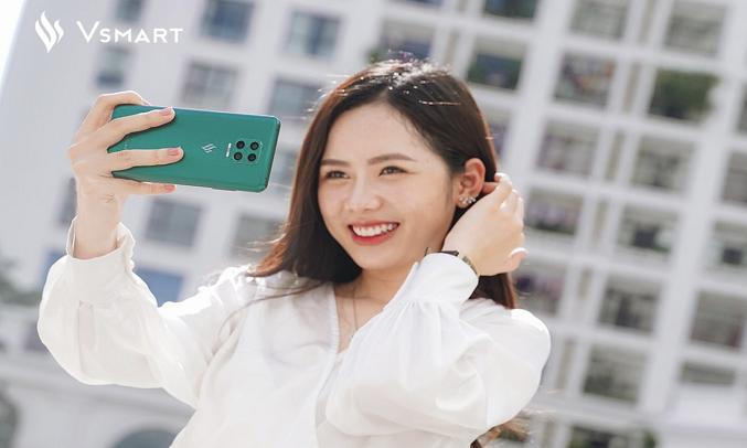 Điện thoại Vsmart Aris (6GB/64GB) Lục cực quang - Cụm 4 camera chuyên nghiệp