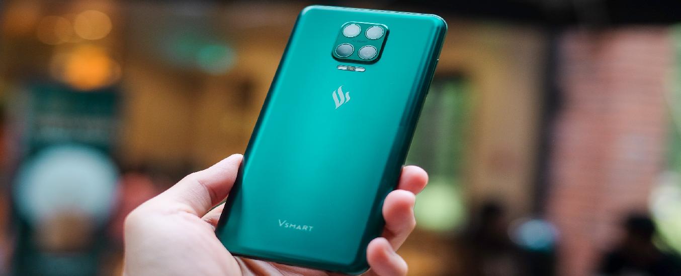 Điện thoại Vsmart Aris 8GB/128GB Lục Cực Quang - Thiết kế thời thượng, sang trọng, nổi bật ngay cái nhìn đầu tiên