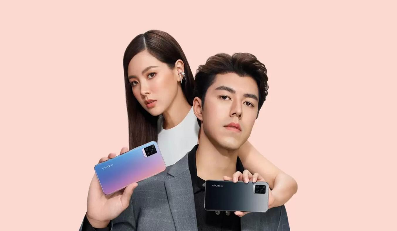 Điện thoại Vivo V20 (8GB/128GB) Xanh hồng - Thiết kế hiện đại, ấn tượng