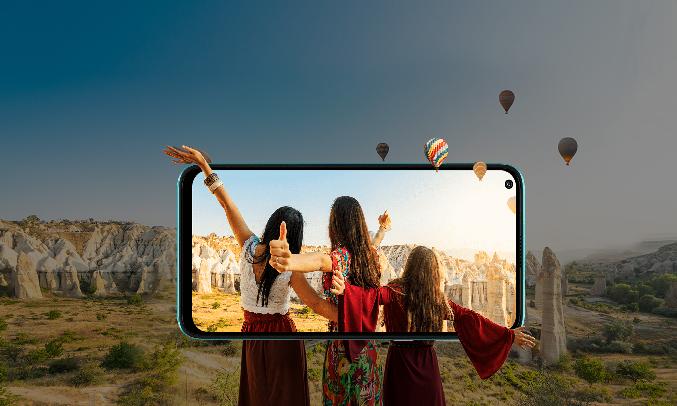 Điện thoại Vsmart Joy 4 (4GB/64GB) Xanh ngọc lam - Màn hình vượt chuẩn