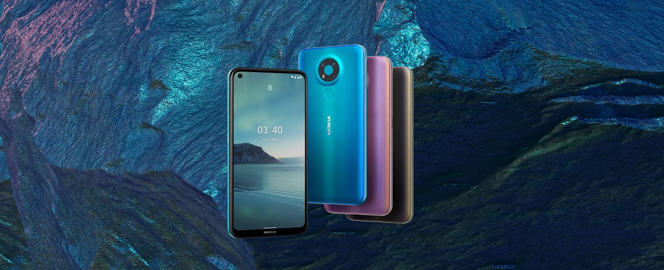 Điện thoại Nokia 3.4 4GB/64GB Tím - Kiểu dáng nhỏ gọn, màu sắc sống động, đậm chất riêng