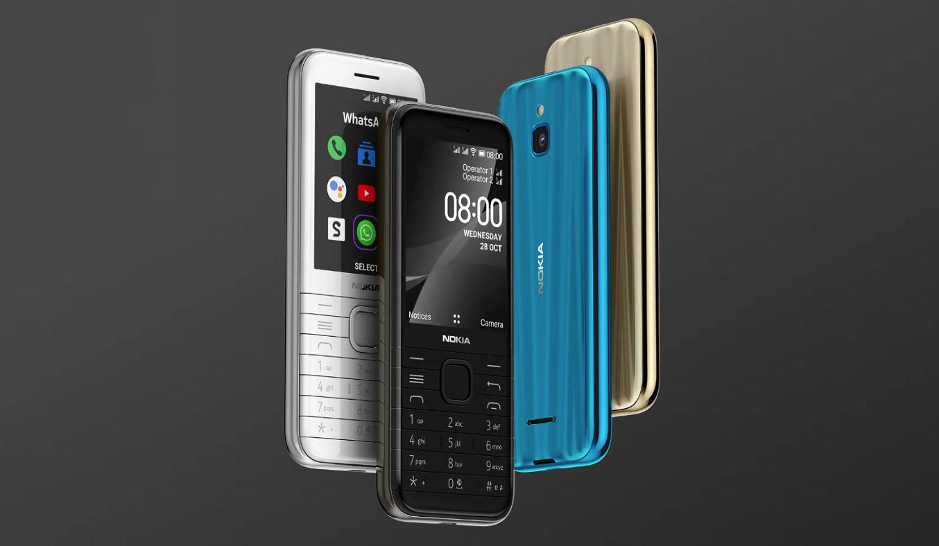 Điện thoại Nokia 8000 4G Đen - Đầy đủ kết nối 4G và Wifi