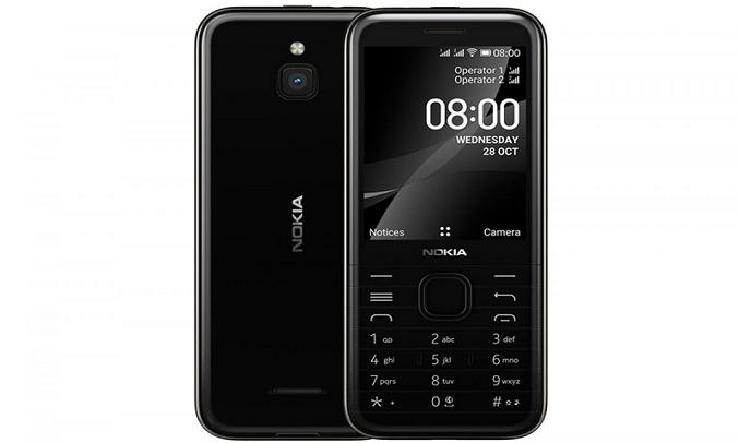 Điện thoại Nokia 8000 4G Đen - Màn hình sắc nét, bàn phím 3D