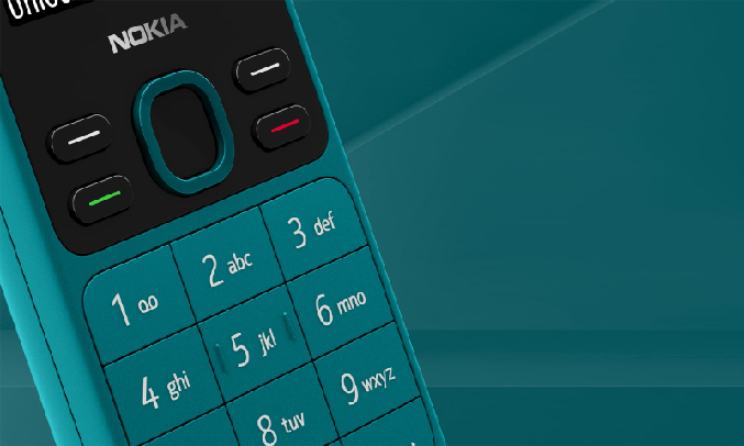 Điện thoại Nokia 150 Xanh - Thiết kế hiện đại, nhỏ gọn