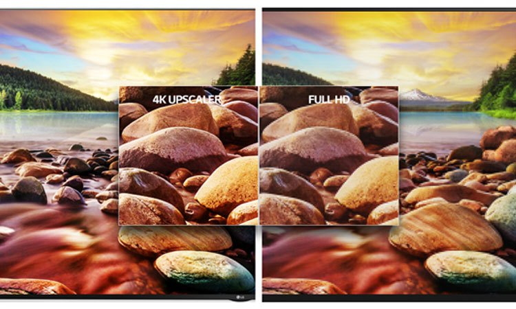 Tivi 4K 65inch LG 65UJ750T cho hình ảnh rõ nét cùng công nghệ xử lý hình ảnh 4K Upscaler