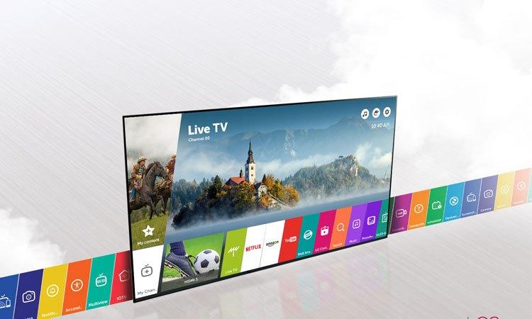 Tivi 4K 65inch LG 65UJ750T sở hữu hệ điều hành hiện đại