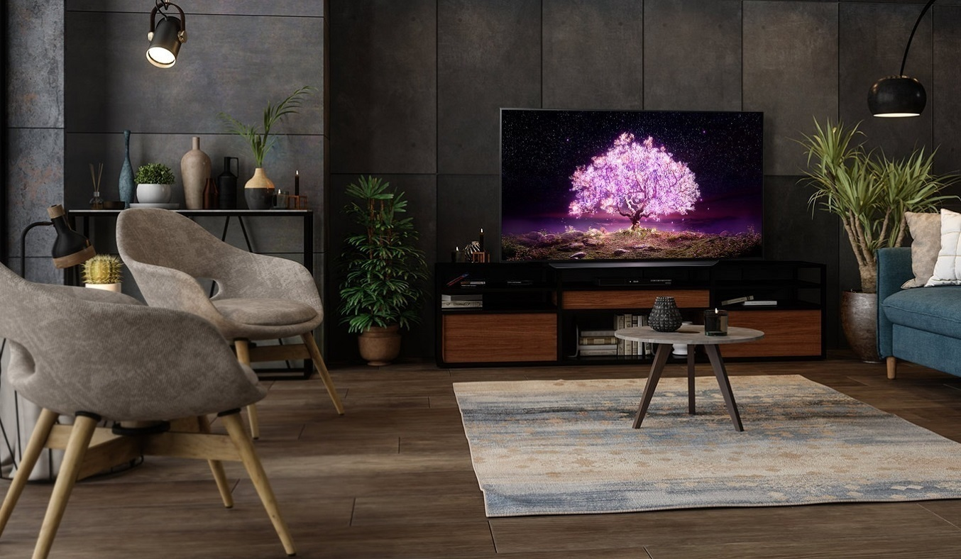 Smart Tivi OLED LG 4K 55 inch OLED55C1PTB - Thiết kế mỏng sang trọng