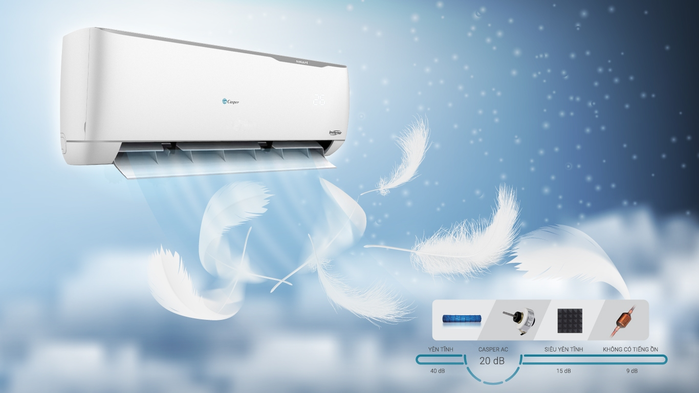 Máy lạnh Casper 1.5 HP SC-12TL32 thiết kế ưu việt