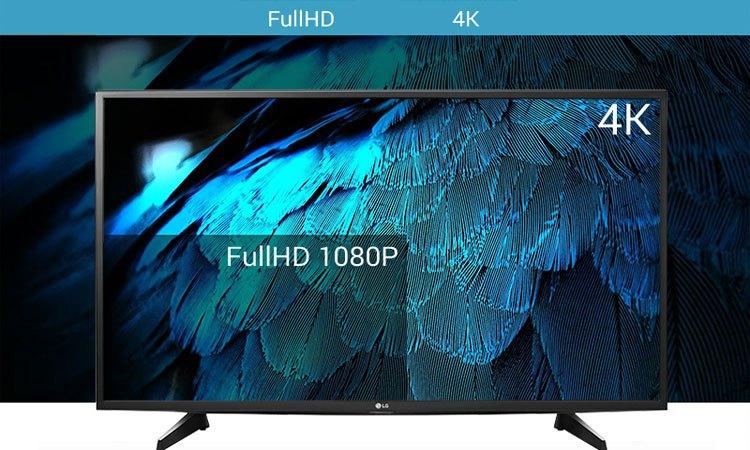 Hình ảnh có độ nét cao trên Smart Tivi LG 49 inch 49LJ550T