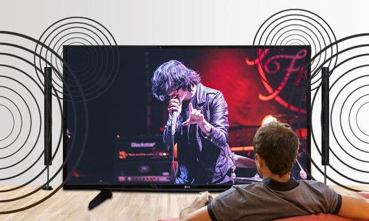 Công nghệ thể hiện âm thanh đầy sống động và chân thực trên Tivi Led LG 43 inch 43LJ510T
