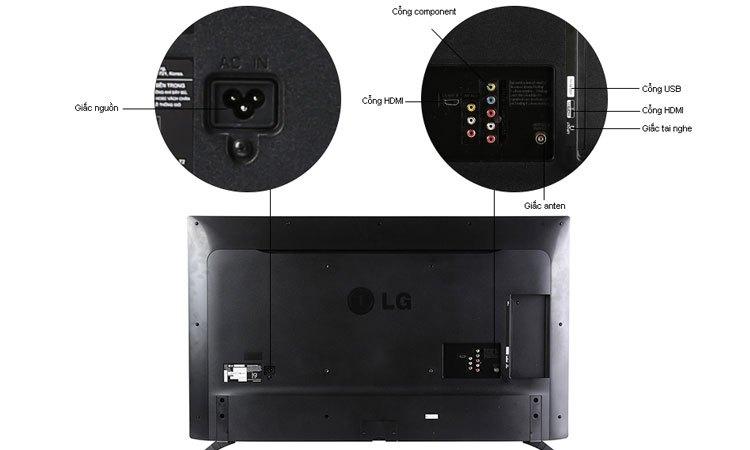 Kết nối nhanh chóng với các thiết bị khác nhờ các cổng kết nối của Tivi Led LG 43 inch 43LJ510T