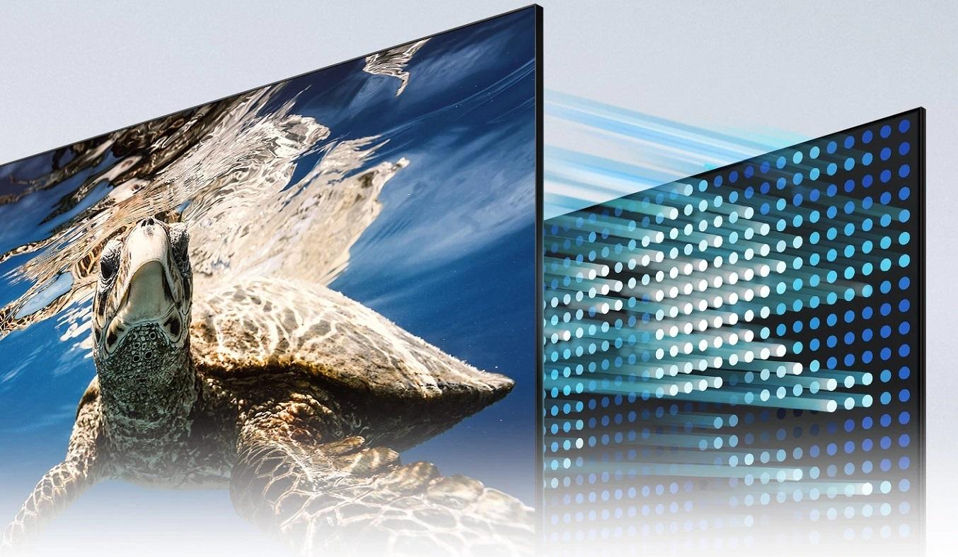 Smart Tivi QLED Samsung 4K 55 inch QA55Q80AAKXXV - Công nghệ đèn nềnDirect Full Array