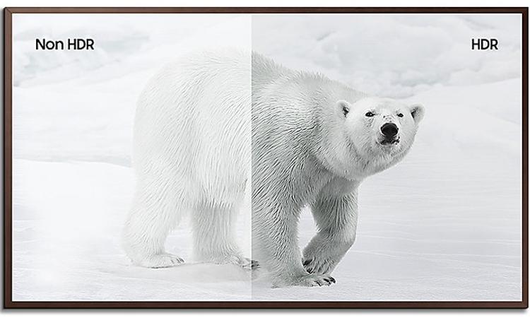 Tivi khung tranh 55inch Samsung UA55LS003AKXXV dải tương phản động