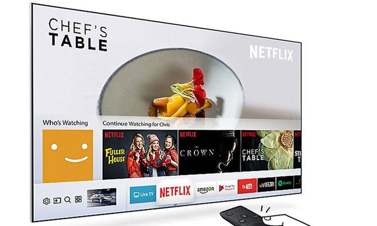 Tivi Led Samsung 40 inch UA40MU6100KXXV kết nối giải trí thông minh