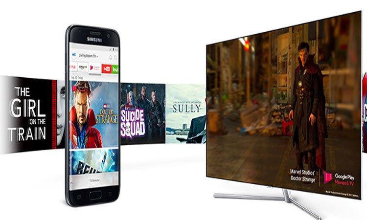 Tivi QLED Samsung UHD QA49Q7FAMKXXV chia sẽ và kết nối nhanh chóng