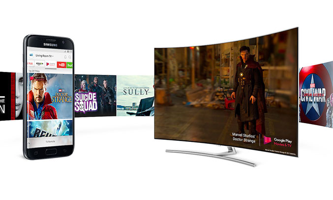 Tivi QLED Samsung QA75Q7FAMKXXV treo tường tiện lợi