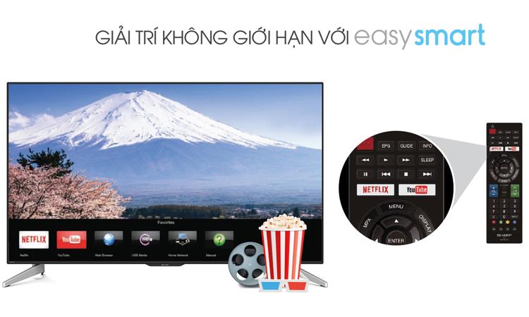 Xem các chương trình giải trí trên Internet tivi 32 inch Sharp LC-32LE375X chưa bao giờ dễ dàng đến như vậy