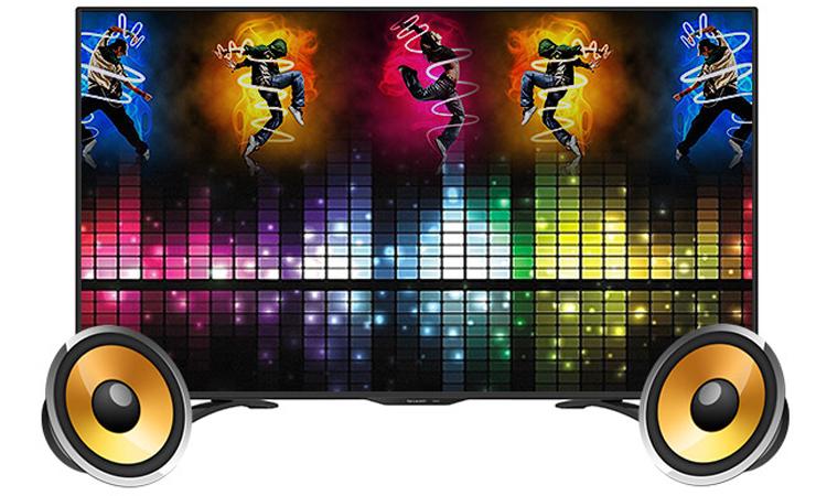 Internet tivi 32 inch Sharp LC-32LE375X sở hữu âm thanh cực bùng nổ sống động trên từng giai điệu