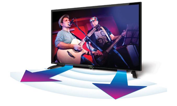 Internet tivi Sharp 40inch LC-40LE380X âm thanh sống động