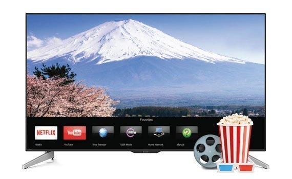 Tivi LED Sharp 45 với màn hình hiển thị hình ảnh cực sắc nét