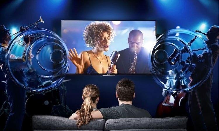 Smart tivi 43inch Sony KD-43X7500E âm thanh sống động thật ấn tượng
