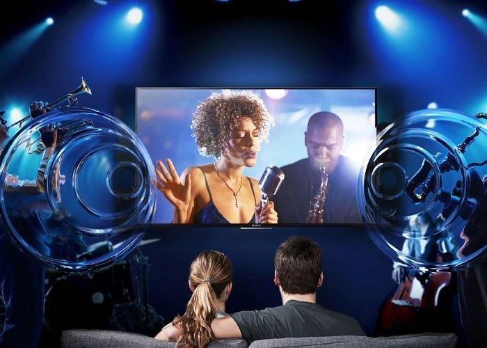 Smart tivi 49inch Sony KD-49X7500E âm thanh sống động thật ấn tượng